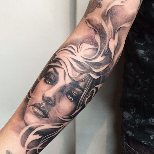 Portrait Tattoo Forearm