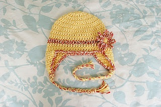 Free Pattern: Baby Earflap Hat - 6 months