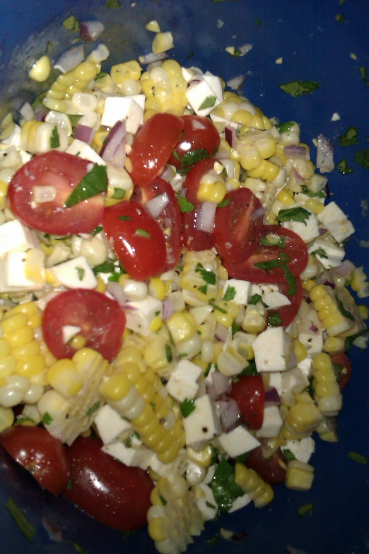 Summer corn salad | Pounding Veggies | Pinterest