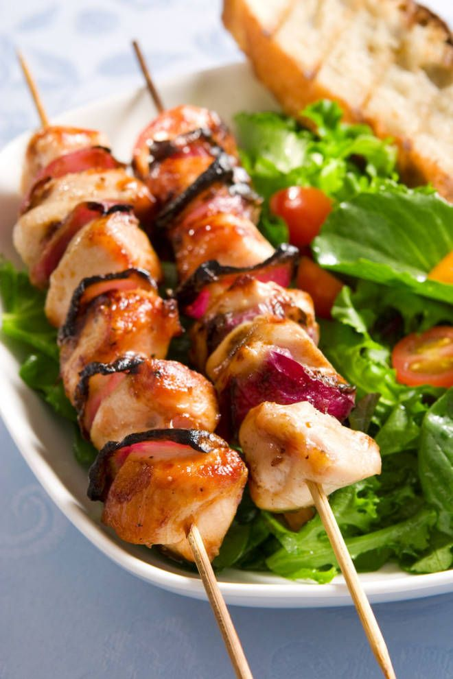 Honey Grilled Chicken Kabobs | Recipes | Pinterest