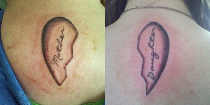 Mine and my mother 39 s matching tattoo mother daughter for Matching tattoos for mother and daughter quotes