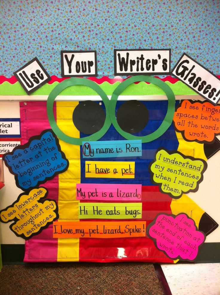 A 2nd Grade- Use your Writer's Glasses.  I still need to find space for this in my room.