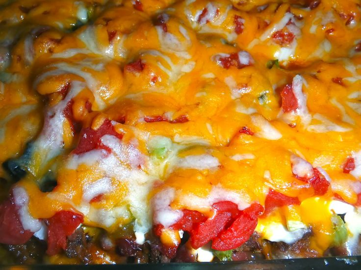 easy mexican casserole use doritos instead of tortilla chips i leave ...
