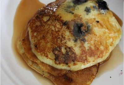 Blueberry Lemon Ricotta Pancakes with Blueberry Compote - i heart ...