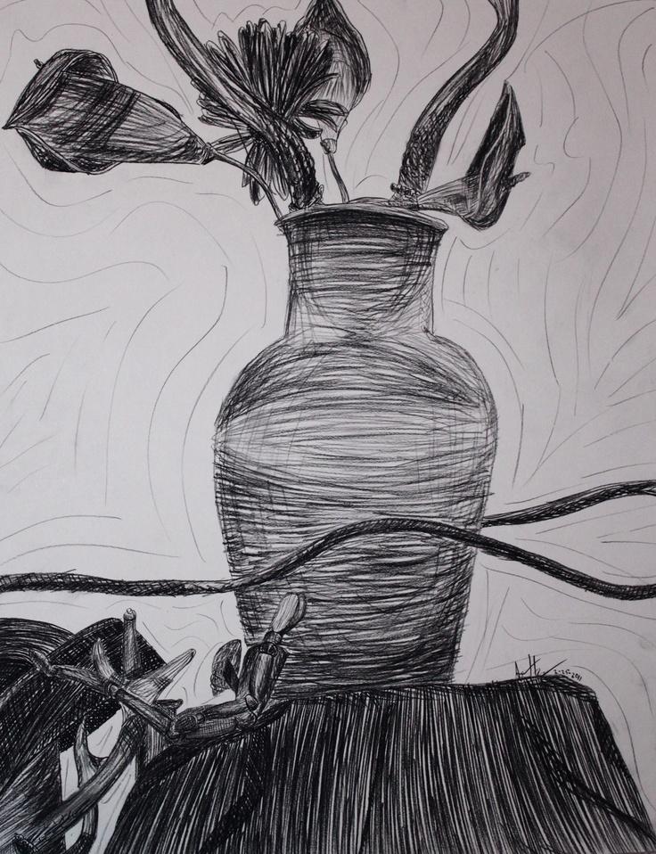 Contour Line Drawing Still Life : Still life contour art i love pinterest