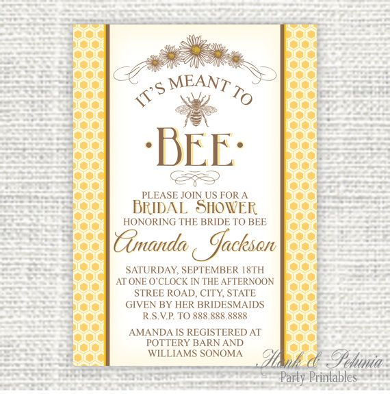 ... Inspired Printable DIY It's Meant to Bee by HankandPetunia, $10.00