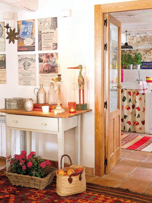 Una casa de campo de piedra y madera