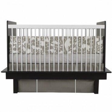 Oilo 3 Piece Crib Bedding Set  (Modern Berries Motif - Taupe) - www.rightstart.com