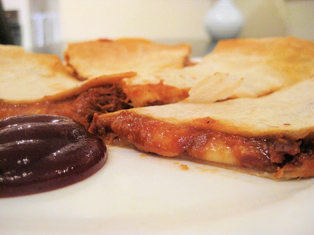 BBQ Pulled Pork Quesadillas - Sooooooo good!