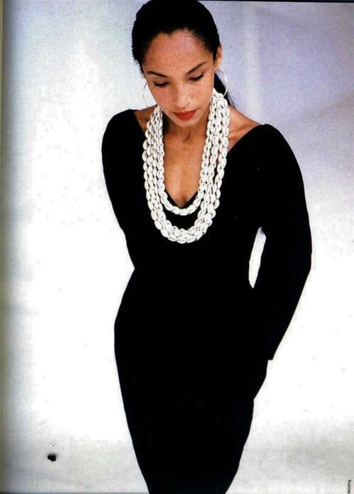 Sade is accessorized - love her and her music...