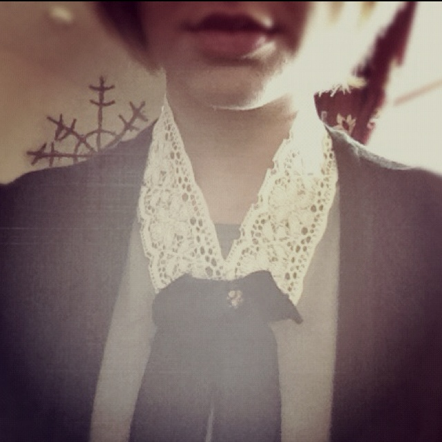 Homemade lace collar