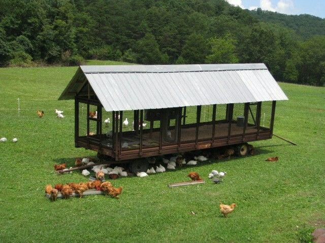 Portable freerange chicken tractor chicken coops pinterest for Free range chicken coop plans