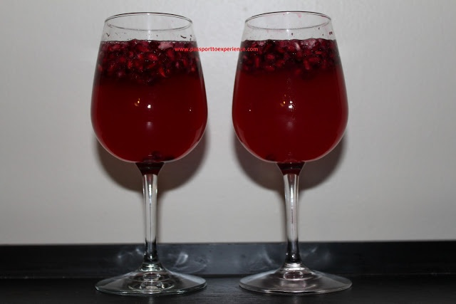 Pomegranate drink - non-alcoholic! And other non-alcoholic recipes