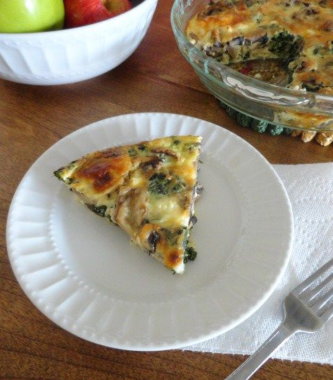 Brittany Cooks: Crustless Spinach and Mushroom Quiche