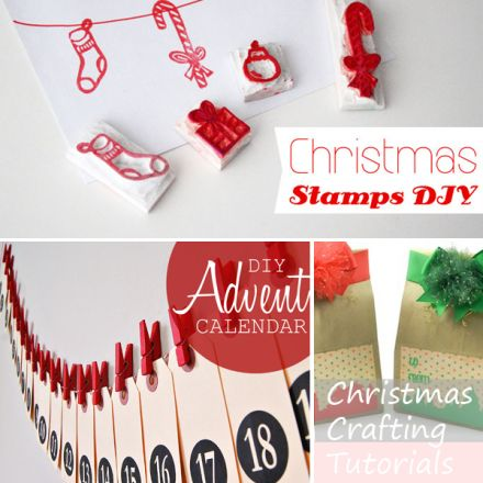 Three Christmas Crafting Tutorials | DIY Stamps, Advent Calendar and Gift Bags · Scrapbooking | CraftGossip.com