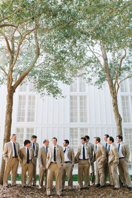 Tan suits for the groomsmen {Photo by Dear Wesleyann via Project Wedding}