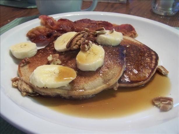 Banana Pecan Buttermilk Pancakes | Recipe