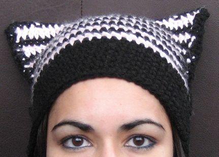 Free Crochet Black Cat Hat Pattern : easy cat hat crochet Crochet: For the Home Pinterest
