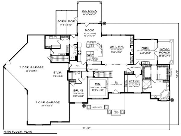 European Ranch House Plan 72968