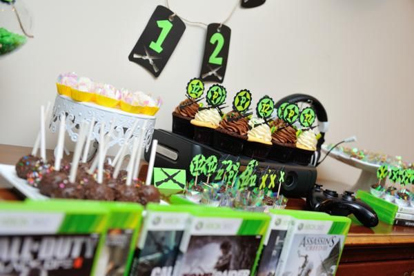 Xbox Video Game Boy 12th Birthday Party Planning Decoration Ideas