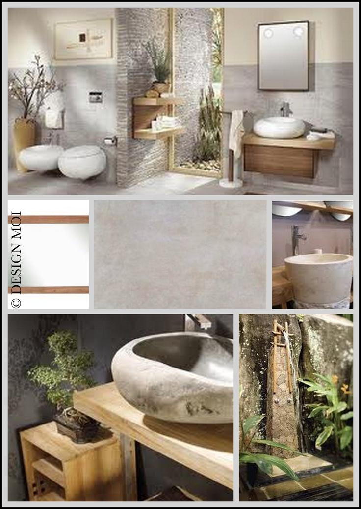 Salle de bain nature salle de bain pinterest - Salle de bain nature zen ...