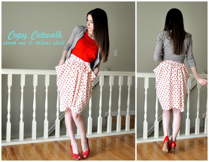 DIY stand and deliver skirt