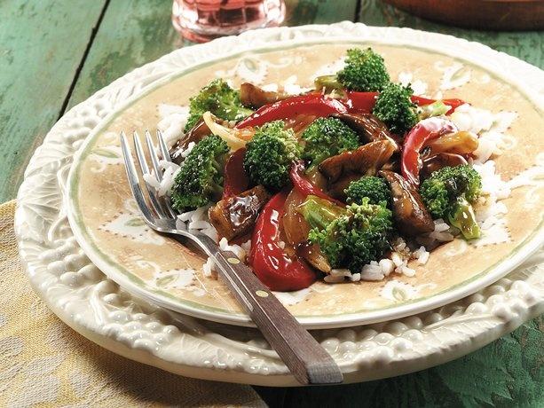 Portobello-Broccoli Stir-Fry