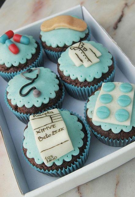 doctor cupcakes by Maria Olejniczak, via Flickr