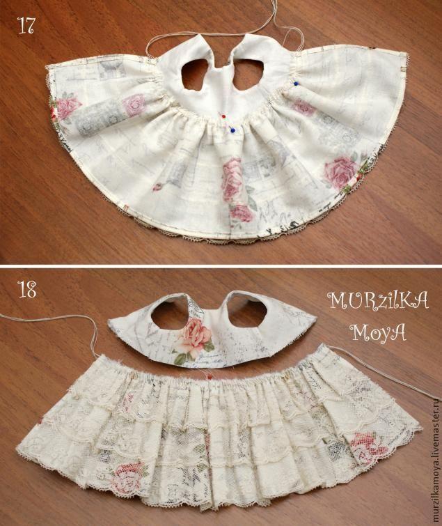 Как сделать платье для куклы шитья 776