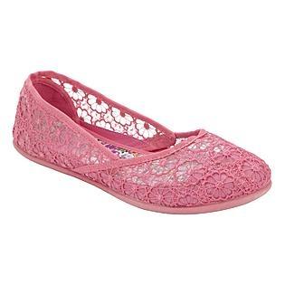 want these! Bongo Women's Eyelet Macrame Flat Emelia- Pink @ K-Mart