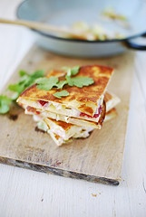 Leek & strawberry quesadillas | food & recipes | Pinterest