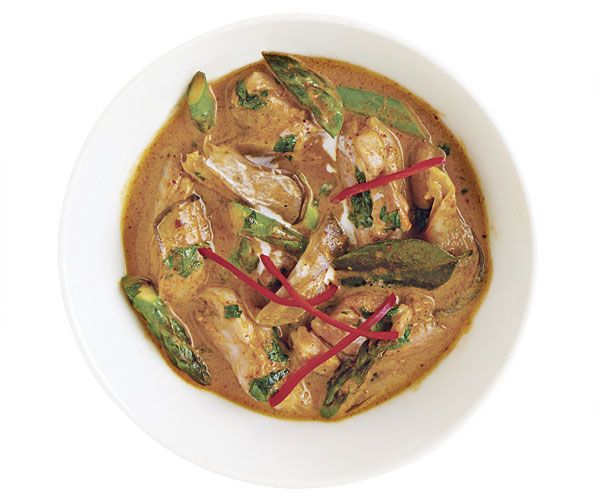 Panang Curry with Chicken, Asparagus, and Mushrooms | Recipe