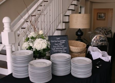 Buffet set up communion party ideas pinterest