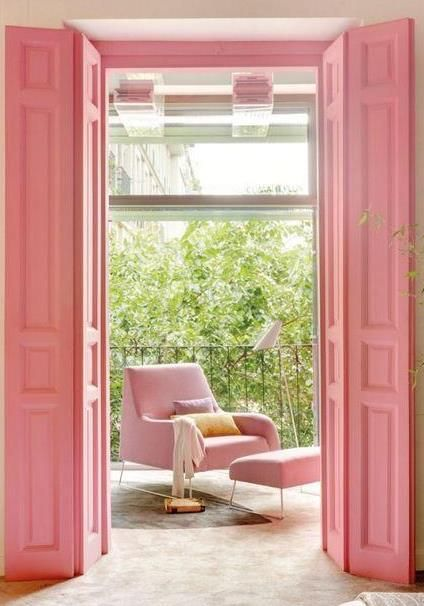 Pink Decor - Phi Mu room for my house Paint Graceys door this color the hall wall would look sharp with the different colored doors maybe monkeys door blue (dark) and yours brown !!!!!!!!!!!!!!!