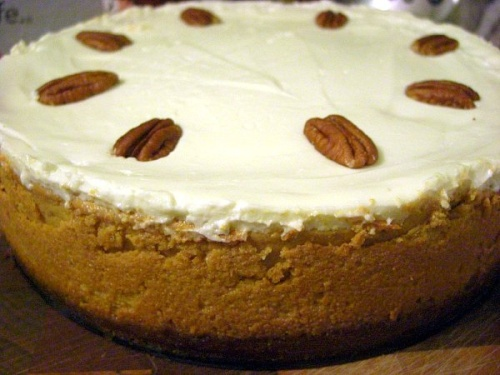 Bourbon pumpkin cheesecake | food | Pinterest