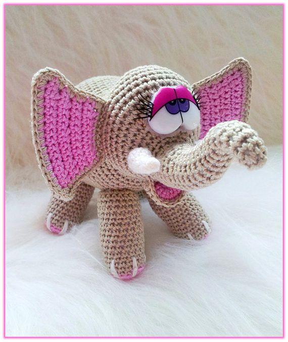 Amigurumi Bumble Bee Pattern : Crochet ELEPHANT toy pattern stuffed animal amigurumi ...