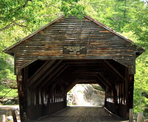 Covered Bridge, White Mountains, NH, 1858