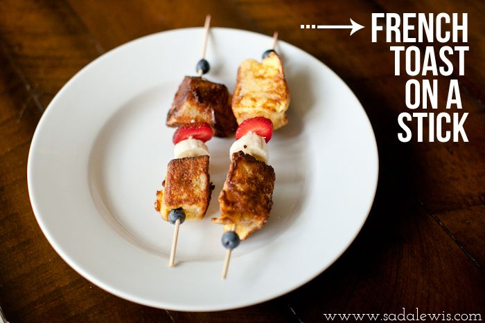 French toast on a stick | Fun on a Stick! | Pinterest