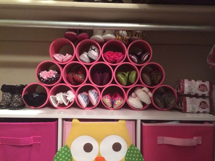 PVC shoe rack for baby shoes DIY