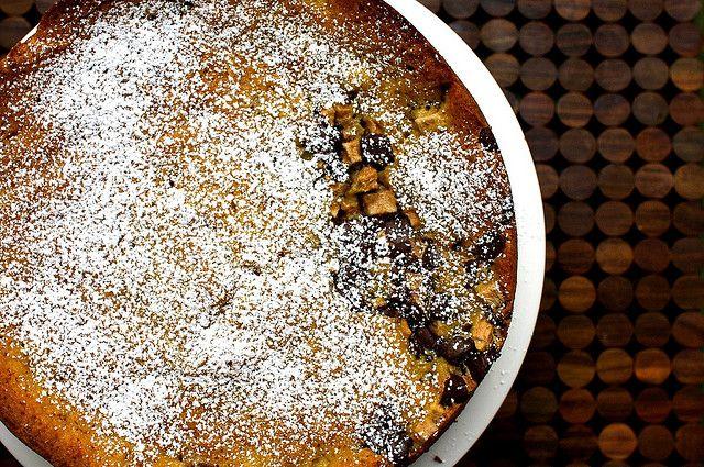 bittersweet chocolate and pear cake | smittenkitchen.com