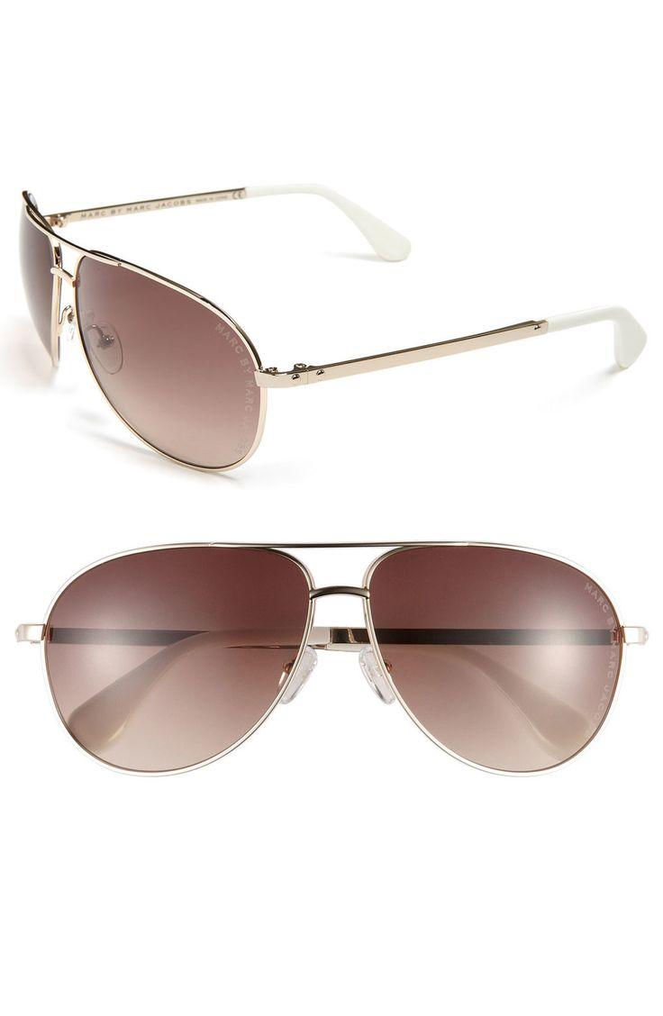 marc jacobs aviator sunglasses gold trim. Black Bedroom Furniture Sets. Home Design Ideas