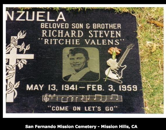 Ritchie Valens singer grave site | Graveyards | Pinterest