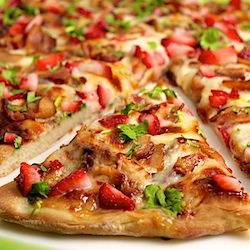 ... Strawberry Pizza with Chicken, Sweet Onion and Applewood Smoked Bacon