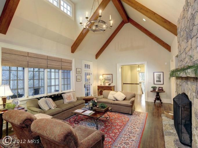 Wood beam ceiling vaulted wood beam ceiling pinterest for Wood vaulted ceiling