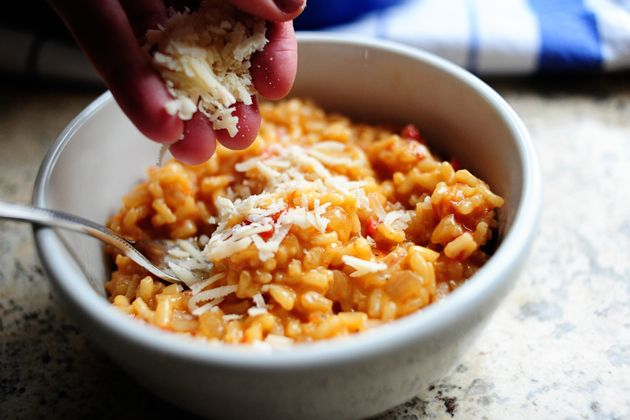 sun dried tomato risotto; I've always wanted to make risotto!
