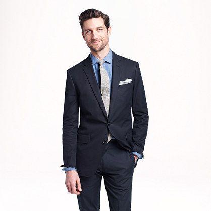 J B Ludlow Ludlow suit jacket in Italian cotton piqué