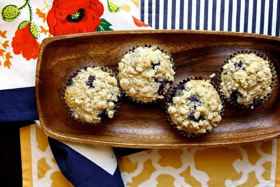 lemon blueberry poppy seed muffins | The Yums | Pinterest