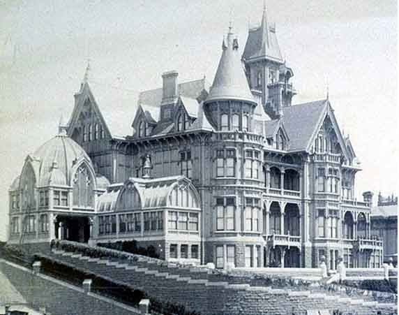 Mark Hopkins Mansion, Nob Hill, San Francisco, 1880's. Survived only 28 years until the 1906 earthquake.