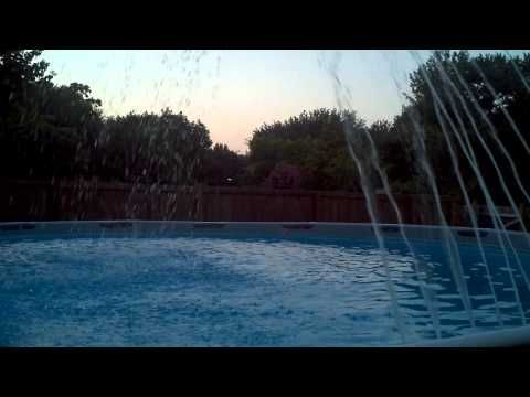 Homemade Pool Fountain Above Ground Pool Landscaping Pinterest