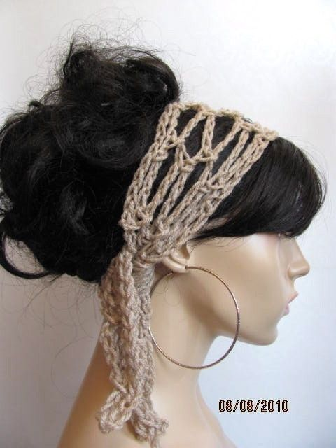 Crochet Gypsy Style Hair Band Pattern : BUY 2 hair scarfs GET 1 hair scarf FREE - Crochet Gypsy Style Hair Ba ...